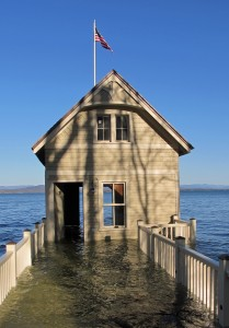 Doorless and flooded Rosslyn boathouse, spring 2011.