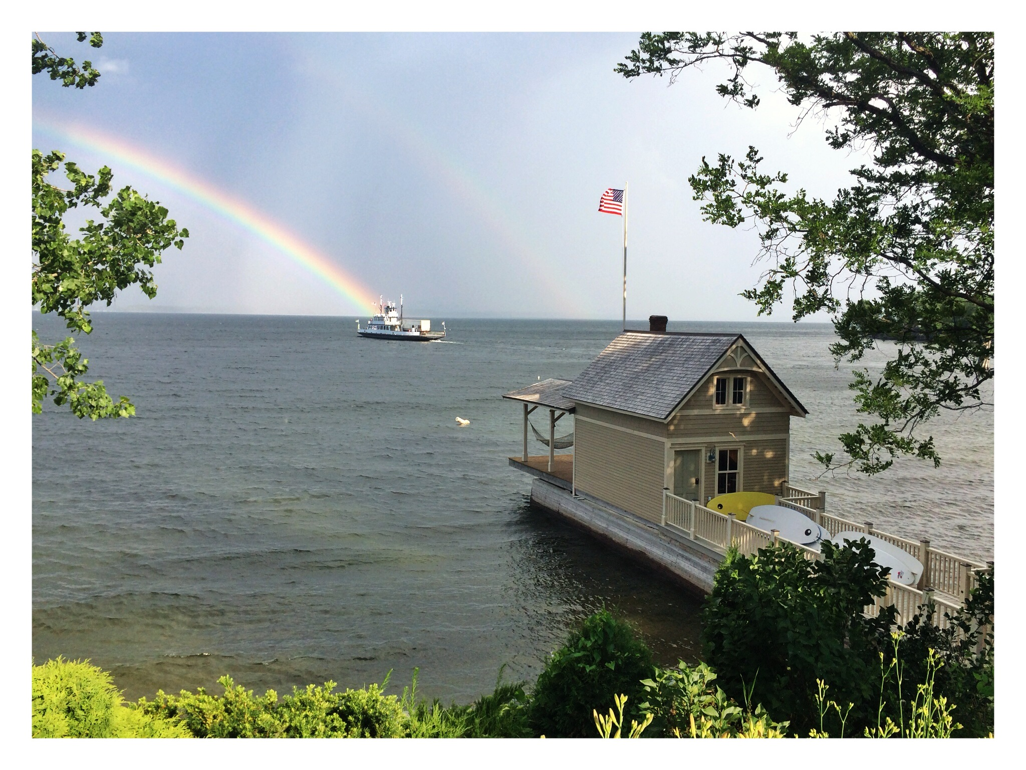 Boathouse, Ferry & Rainbow