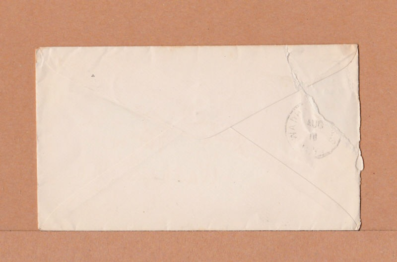 Envelope (back) from the Essex Horse Nail Co., Limited in Essex, New York.