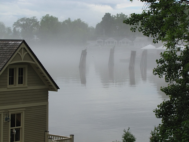 Rosslyn Boathouse and Essex Ferry Dock Pilings (Photo: Eve Ticknor)