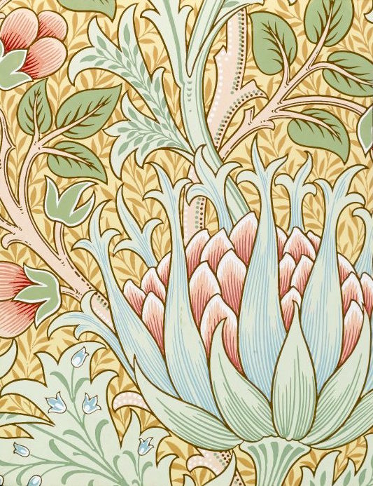 William Morris & Co., Wallpaper Sample Book 1, Artichoke, pattern #359, ca. 1915 (Source: theparisreview.org)